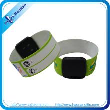 Bracelets d'identification de bracelet de pression de PVC imprimé par couleur