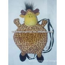 Lindo jirafa niño animal peluche bolsa de juguete