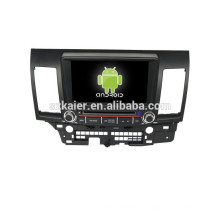 Quad core 2 din dvd player do carro, Bluetooth, MIRROR-CAST, AIRPLAY, DVR, Jogos, Dual Zone, SWC para Mitsubishi Lancer EX