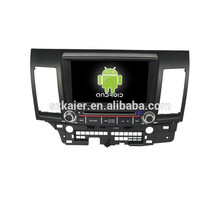 Четырехъядерный процессор 8 дюймовый двойной DIN автомобильный DVD с GPS ,Bluetooth,игры,двойной зоны,управления рулевого колеса для Mitsubishi Lancer бывших