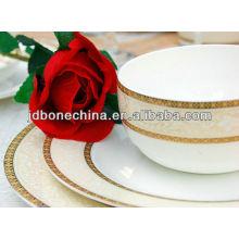 Новый дизайн тиснения 43% кость пепел великолепные керамические тарелки посуда