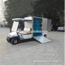 Vehículo utilitario EXCAR, carrito de golf eléctrico barato en venta, carro con carga personalizada