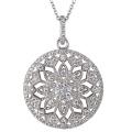 Круглые CZ 925 Серебряные подвески Ожерелье Ювелирные изделия для девочек