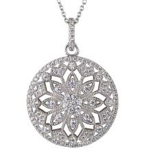 925 bijoux en argent sterling pour pendentifs en zirconium pour femmes