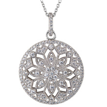 925 Silver Cubic Zirconia Pendants Jewelry for Women