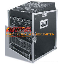 "12u X 10u Slant Combo DJ / Mixer Rack Case W/ 4"" Wheels/Casters"