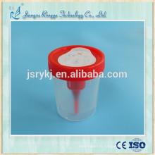 Tasse d'urine stérile jetable avec aiguille
