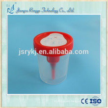 Disposable sterile urine cup with needle