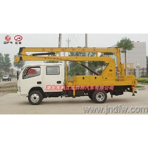 Aerial platform truck mounted with lift crane
