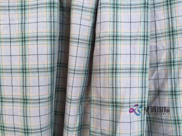 Woven Twill Cotton Shirt Fabric