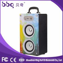 portable music cube speaker with sd card slot
