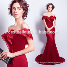 V Neck Wine Red Prom Dress Sexy Evening Dress Tight Mermaid Sweetheart Evening Gown