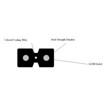 FTTH 1 Cable de desconexión de fibra óptica plana tipo Bow