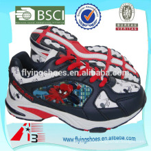 fashion child sports shoes with cool cartoon spider man