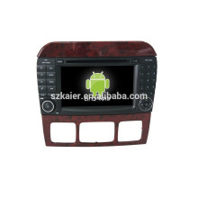 NEW!car dvd with mirror link/DVR/TPMS/OBD2 for 7 inch capactive screen 4.4 Android system BENZ S CLASS