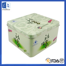Custom Square Metal Cosmetic Tin Box