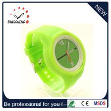 Relojes baratos baratos con correa de silicona reloj por encargo (DC-1308)