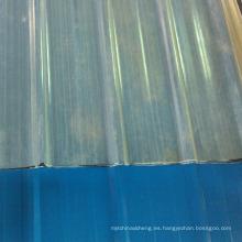 El precio transparente más popular de la hoja del tejado a prueba de mal tiempo para el hotel corrugado cubre el precio
