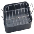 Non-Stick Carbon Steel Roaster Pan with Rack