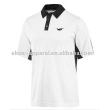 популярные белый/черный мужчины спорт теннис рубашки поло