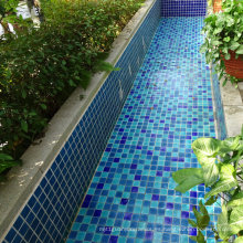 Azulejo De Mosaico De Cerámica Azul Color
