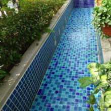 Azulejo de mosaico cerâmico de cor azul