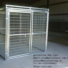 China Fabrik Großhandel Massivdach Hund Laufgitter 6'x8'x6 'Hundekäfige Anti-Rost Hundehütten