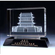 Высокая-класс 3D Кристалл изображение модели здания стекло K9