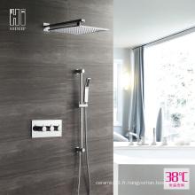 Ensemble de robinet de douche thermostatique en laiton de haute qualité