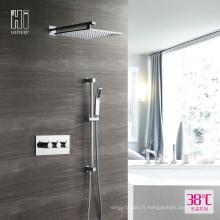 Robinet de douche thermostatique à deux fonctions mural HIDEEP