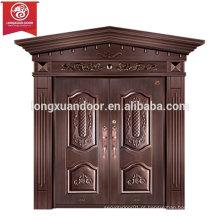 Portas de entrada de fábrica personalizadas, porta de cobre duplo de cobre