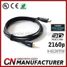A a D tipo micro HDMI Cable 6FT Micro HDMI al cable masculino del convertidor del adaptador de HDMI Droid EVO HTC 4G 1080P