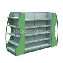 Metal Venta al por menor Multi-Layers Estantería de la góndola para la tienda del licor, estantería de la góndola de la isla del piso de la farmacia