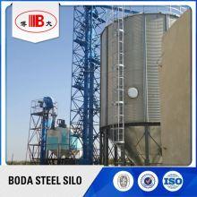 chicken farm wheat corn steel silo tank