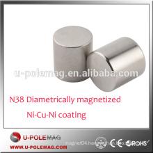 N38 Diametrically magnetized cylinder neodymium magnet