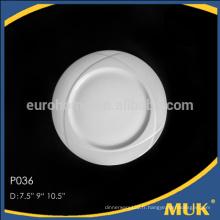 Hôtels promotionnels eurohome banquet 5 taille ronde design plaque céramique