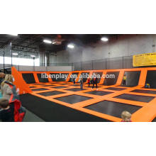 Large Indoor Trampoline with foam pit and dodge ball, professional trampoline for kids play center