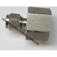 Metal Tube Straight Female Thread Ferrule Connector