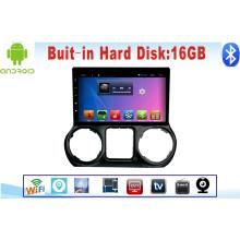 Автомобильный DVD-плеер Система Android для Wrangler 10.1 дюймов с GPS-навигацией