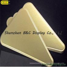 Trangle-Form-Goldfolie-Kuchen-Trommeln mit Griff für Lachse mit SGS (B & C-K038)