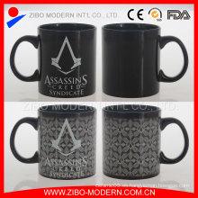Taza de café cambiante del color de cerámica 20oz Taza de la sublimación de la alta calidad