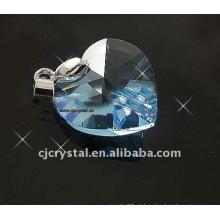 Pingentes de cristal do coração do oceano de 18mm