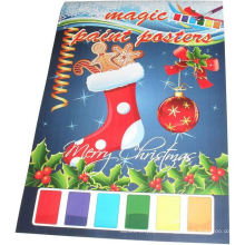 2015 christmas kids painting magic posters