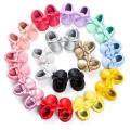 19 cor bowknot borlas sapatos de bebê criança mocassins sola macia infantil