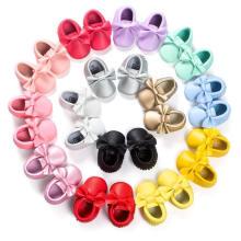 19 couleurs bowknot glands bébé chaussures tout-petits doux mocassins pour bébé