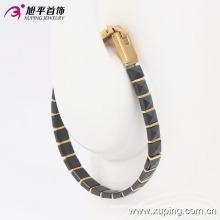 74104 moda jóias banhado a ouro pulseira de cerâmica em jóias de aço inoxidável