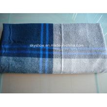 Modacrylic bordo Plaid manta (SSB0170)