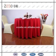 """100% poliéster tecido tecido simples 120 """"toalhas de mesa redondas para casamento"""
