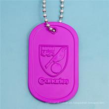 Fábrica Customzied Aluminio Anodizar la placa de identificación para hombre