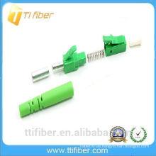 LC APC Polaco Single-mode 9/125 Simplex 2.0mm Tamaño del cargador Conector de fibra óptica